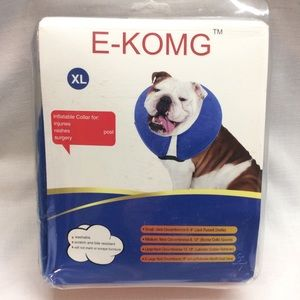 E-KOMG DOGS INFLATABLE COLLAR  X-LARGE BLUE.